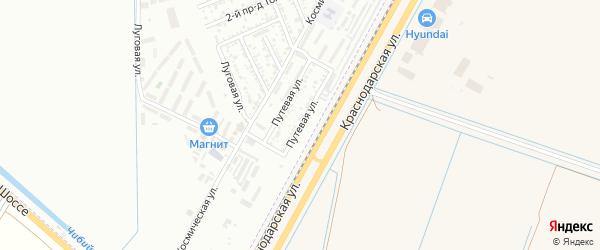 Путевая улица на карте Яблоновского поселка с номерами домов