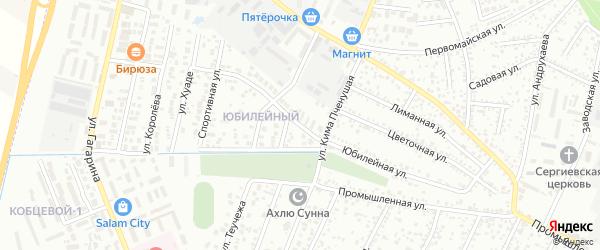 Юбилейная улица на карте Яблоновского поселка с номерами домов