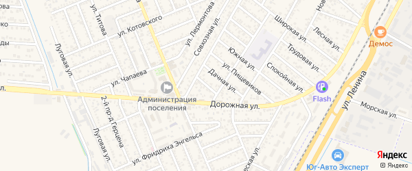 Степная улица на карте Яблоновского поселка с номерами домов