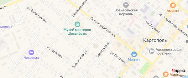 Улица Гагарина на карте Каргополя с номерами домов