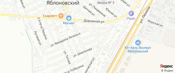 Шовгенова 2-й проезд на карте Яблоновского поселка с номерами домов