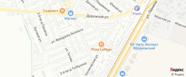 Шовгенова 1-й проезд на карте Яблоновского поселка с номерами домов