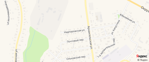 Надпорожская улица на карте Каргополя с номерами домов