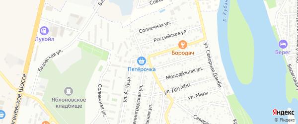 Улица Чуц на карте Яблоновского поселка с номерами домов
