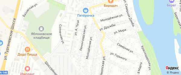 Молодежная улица на карте Яблоновского поселка с номерами домов