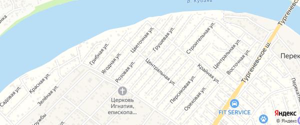 Ароматная улица на карте садового некоммерческого товарищества Закубанские сады с номерами домов