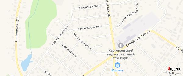 Приозерная улица на карте Каргополя с номерами домов