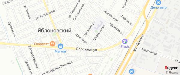 Улица Пищевиков на карте Яблоновского поселка с номерами домов