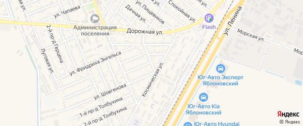 Улица Карла Маркса на карте Яблоновского поселка с номерами домов