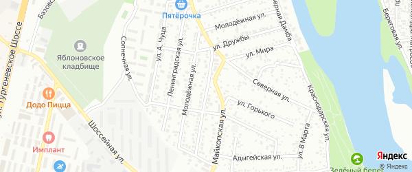 Улица Дружбы на карте Яблоновского поселка с номерами домов