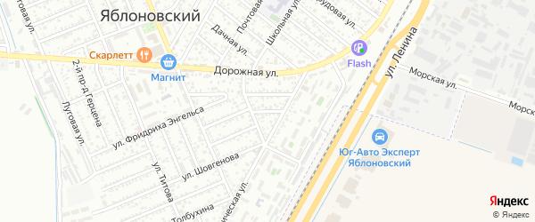 Переулок Карла Маркса на карте Яблоновского поселка с номерами домов