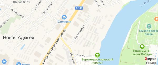 Береговая улица на карте садового некоммерческого товарищества Восхода с номерами домов