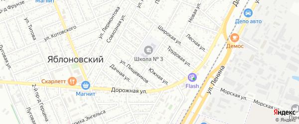 Школьная улица на карте садового некоммерческого товарищества Нового с номерами домов