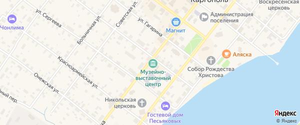 Улица Ленина на карте Каргополя с номерами домов