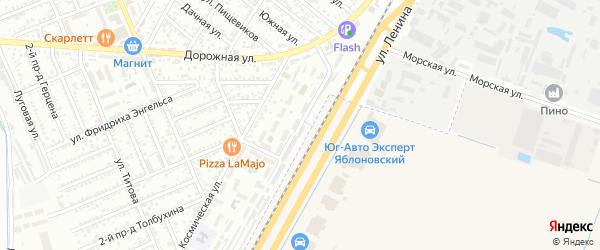 Железнодорожная улица на карте Яблоновского поселка с номерами домов