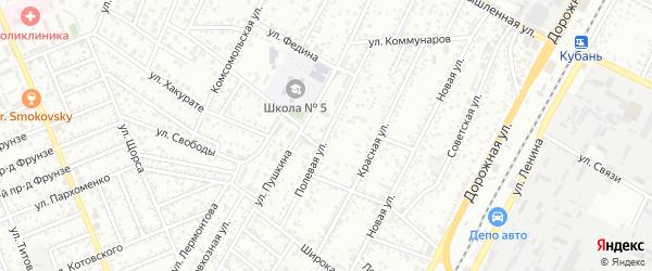 Полевая улица на карте садового некоммерческого товарищества Прогресса с номерами домов