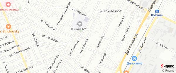 Полевая улица на карте садового некоммерческого товарищества Деметры с номерами домов