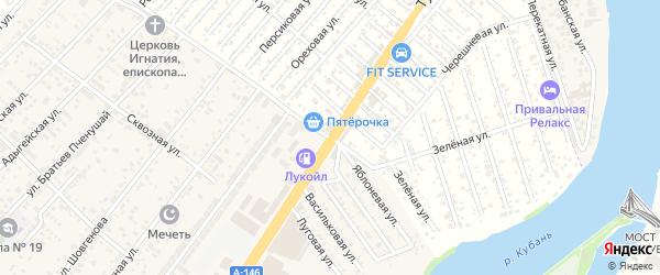 Сливовая улица на карте садового некоммерческого товарищества Рассвета (рыбсовхоза) с номерами домов
