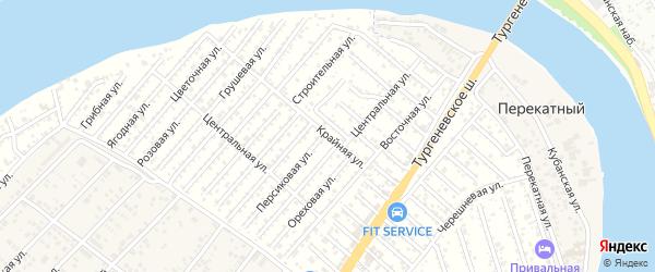 Крайняя улица на карте садового некоммерческого товарищества Закубанские сады с номерами домов