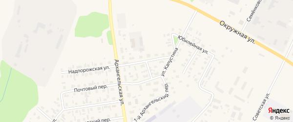 Архангельский переулок на карте Каргополя с номерами домов