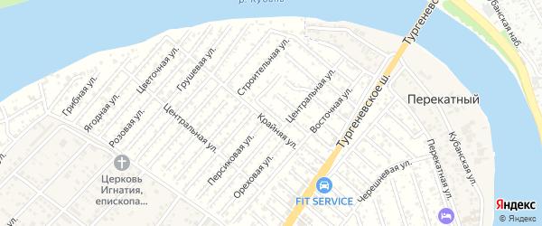 Улица 5 Линия на карте садового некоммерческого товарищества Закубанские сады с номерами домов