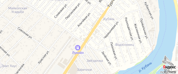 Смородиновая улица на карте садового некоммерческого товарищества Кубани с номерами домов