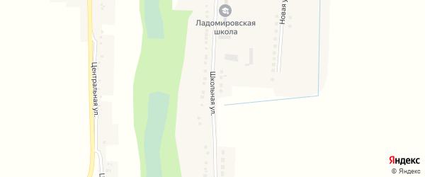 Школьная улица на карте села Ладомировки с номерами домов