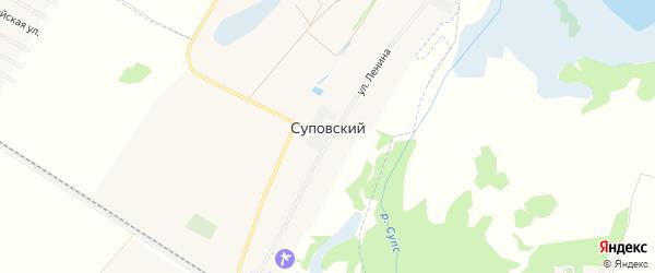 Карта Суповского хутора в Адыгее с улицами и номерами домов
