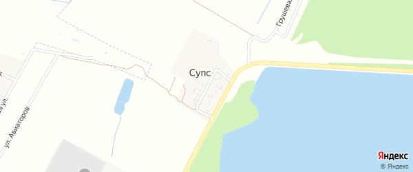 Шоссейная улица на карте поселка Супса с номерами домов