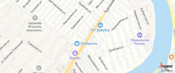 Урюковая улица на карте садового некоммерческого товарищества Кубани с номерами домов