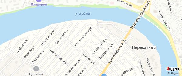 Тенистая улица на карте садового некоммерческого товарищества Закубанские сады 2 с номерами домов