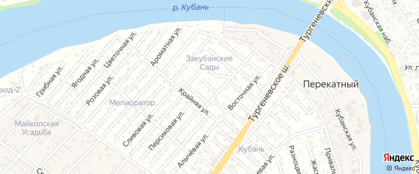 Улица 4 Линия на карте садового некоммерческого товарищества Закубанские сады с номерами домов