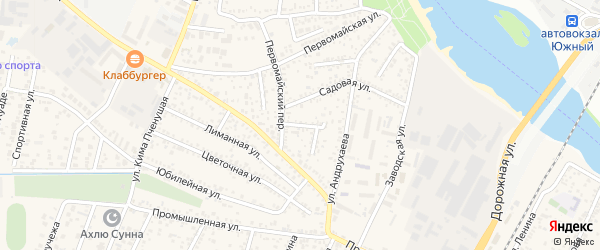 Садовый переулок на карте Яблоновского поселка с номерами домов