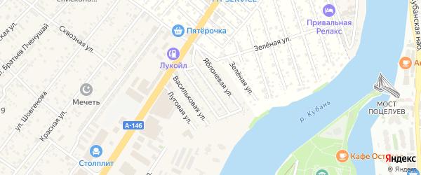 Грушевая улица на карте Приозерного садового некоммерческого товарищества с номерами домов