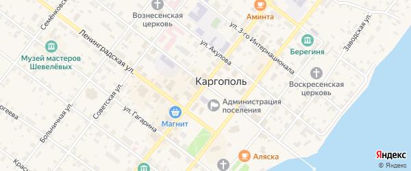 Новодеревенская улица на карте Каргополя с номерами домов
