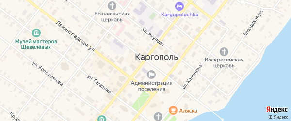 Комсомольская улица на карте Каргополя с номерами домов