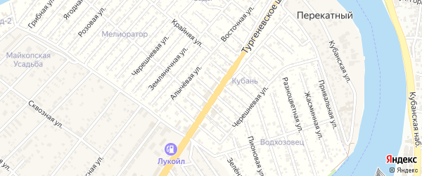 Малиновая улица на карте садового некоммерческого товарищества Восхода 2 с номерами домов