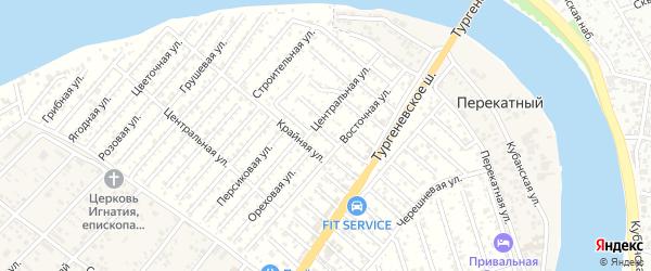 Южная улица на карте садового некоммерческого товарищества Закубанские сады с номерами домов
