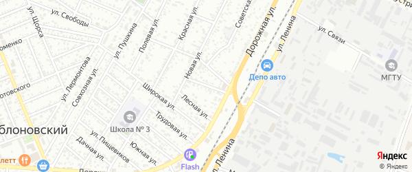 Привольная улица на карте Яблоновского поселка с номерами домов