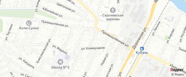 Улица Гоголя на карте Яблоновского поселка с номерами домов