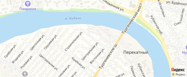 Проулок 1 Линия на карте садового некоммерческого товарищества Закубанские сады с номерами домов