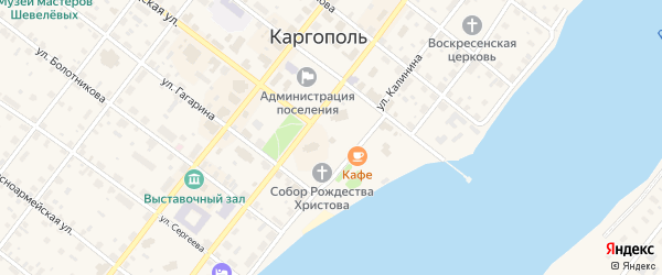 Соборная площадь на карте Каргополя с номерами домов