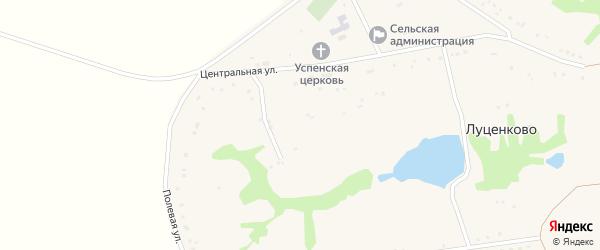 Садовая улица на карте села Луценково с номерами домов