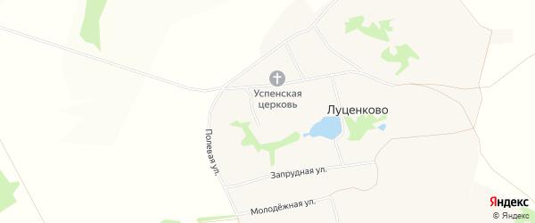 Карта села Луценково в Белгородской области с улицами и номерами домов
