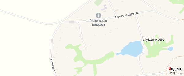 Запрудная улица на карте села Луценково с номерами домов