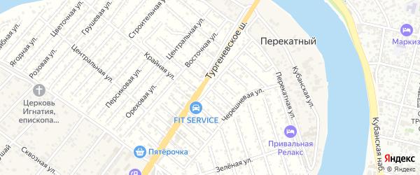 Апельсиновая улица на карте садового некоммерческого товарищества Кубани с номерами домов