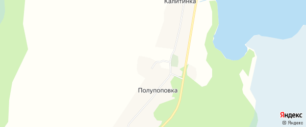 Карта деревни Полупоповки в Архангельской области с улицами и номерами домов
