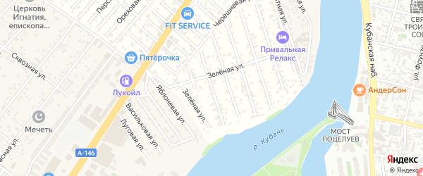 Пионовая улица на карте садового некоммерческого товарищества Водхозовца с номерами домов