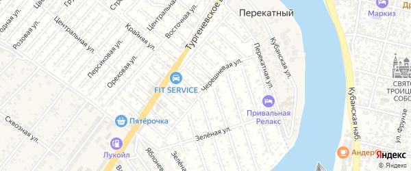 Черешневая улица на карте садового некоммерческого товарищества Водхозовца с номерами домов