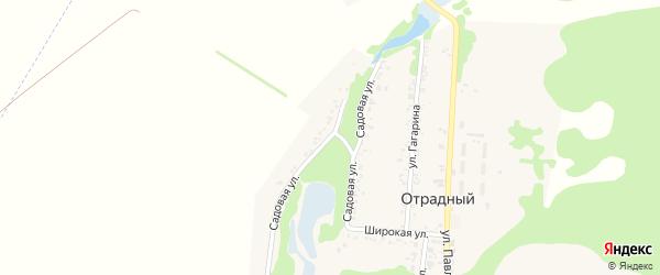 Садовая улица на карте Отрадного поселка с номерами домов